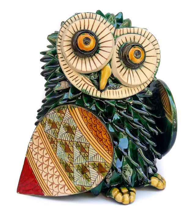 Green little owl (6.3in)