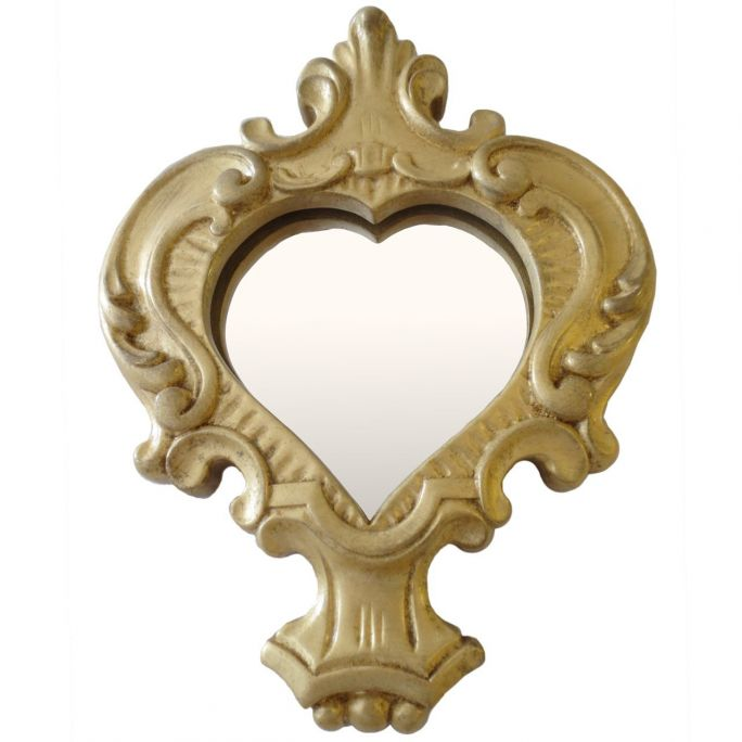 Heart mirror/photo frame