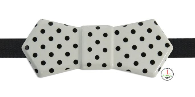Bow Tie Polka Dots black
