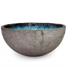 Turquoise bowl black clay