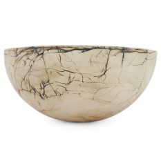 Metallic enamel bowl