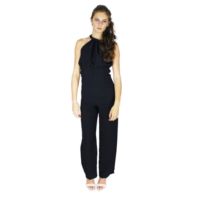 Jumpsuit with crochet pattern