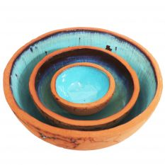 Turquoise clay bowl