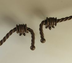 Wrought Iron Handrail in 'rope'Colour