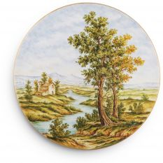 Plate decorated with landscape