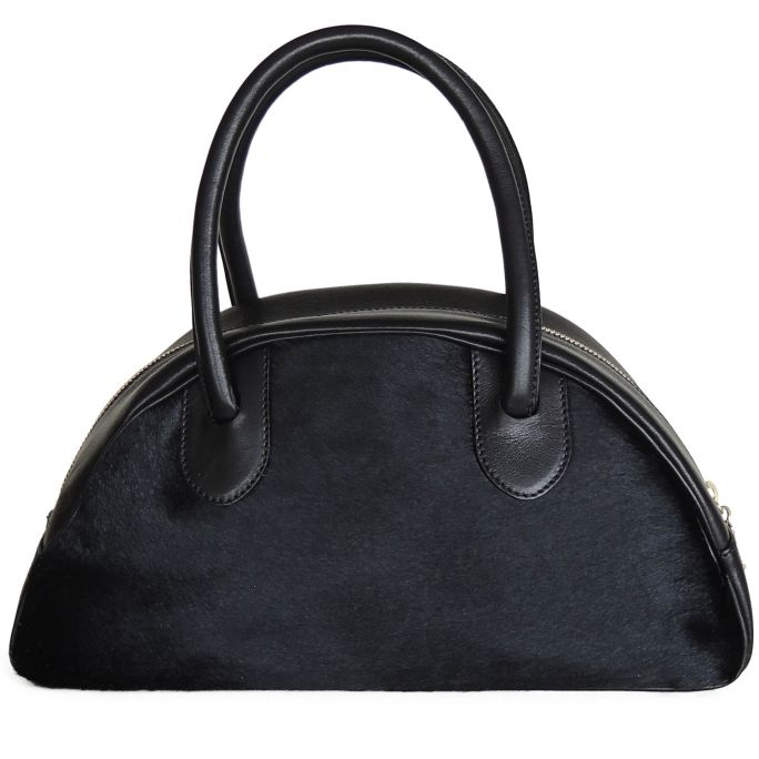 Half-moon bag small LUCIANA ponyskin
