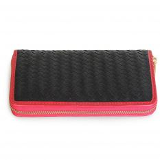 Women's wallet with light braided leather
