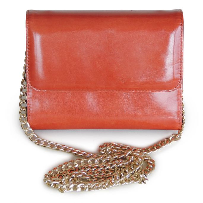 Leather clutch bag-wallet