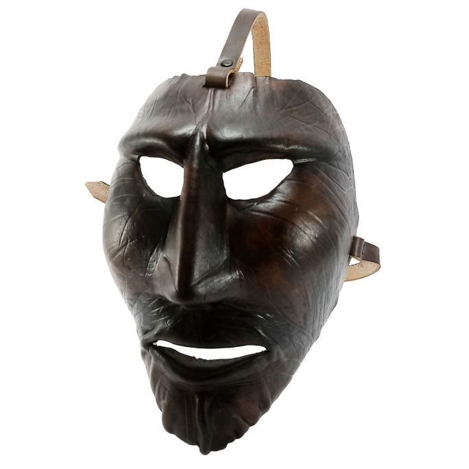 Leather Mamuthones mask 04