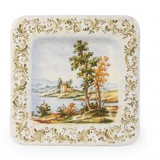 Square decorative plate