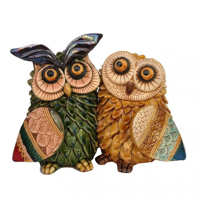 Owls Couple h 16 cm
