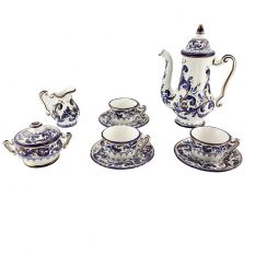 Tea service (Blue / Gold)