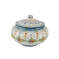 Small cookie jar (geometric / floral decoration)