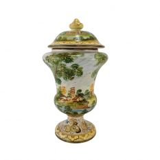 Small Albarello vase (with lid)
