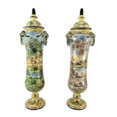 Pair of Vases dec. Abruzzo landscapes