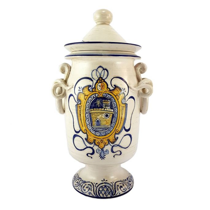 Vase with coat of arms