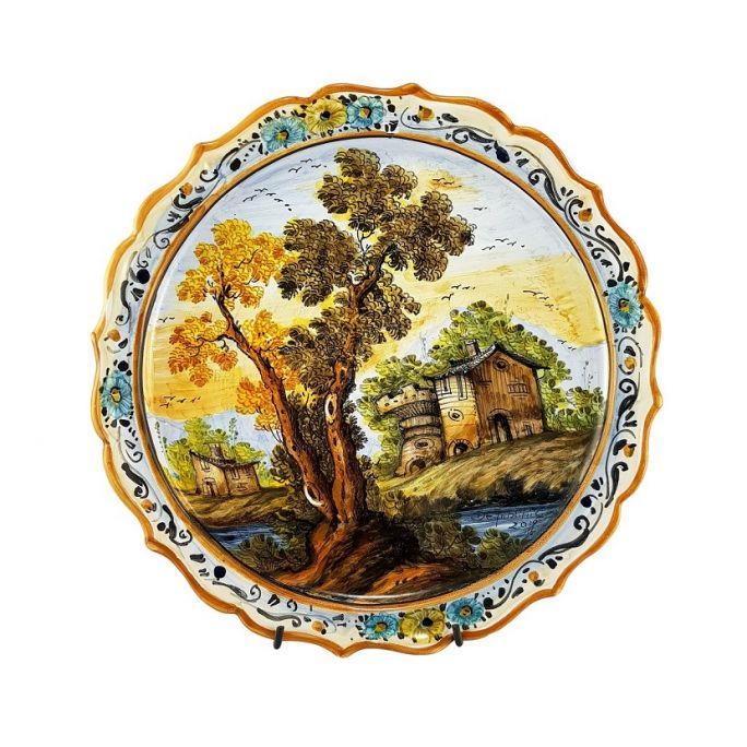 Scalloped plate dec. Landscape