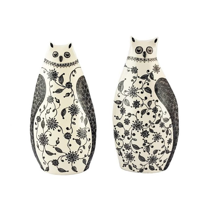 Pair of Owls  (h 18)