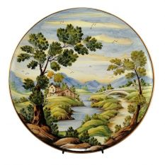Plate dec. Traditional landscape
