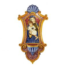 Holy water font, Madonna with child 1