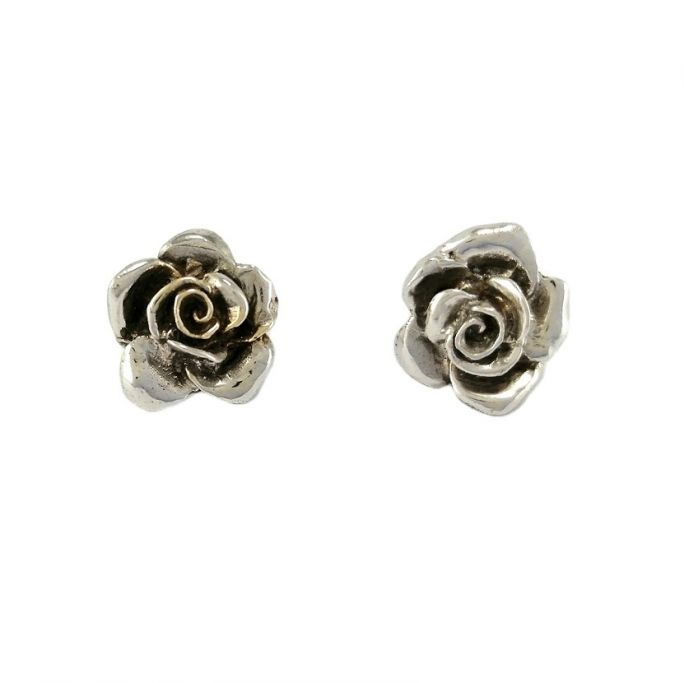 "Earrings ""White Roses"""
