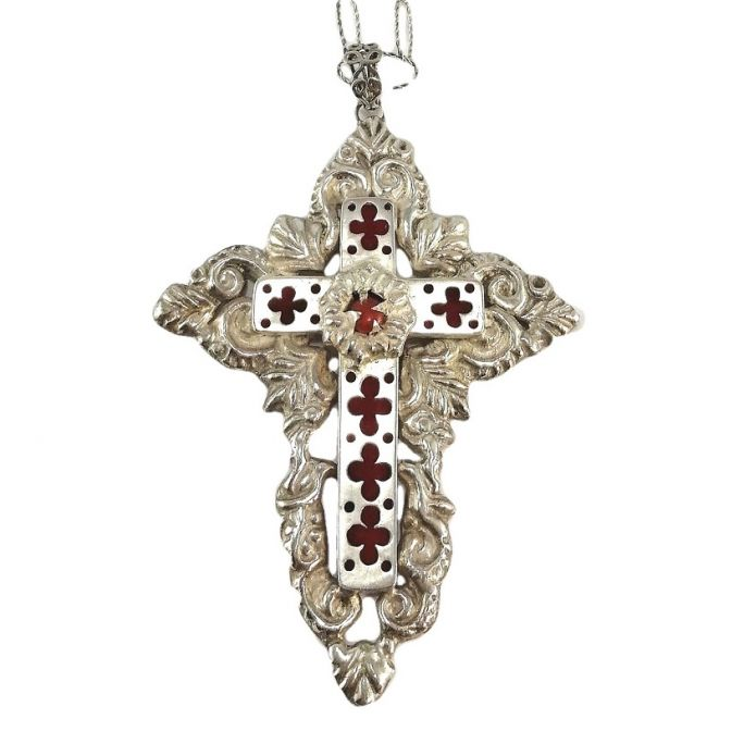 """Cross of Byzantium"" pendant with chain"