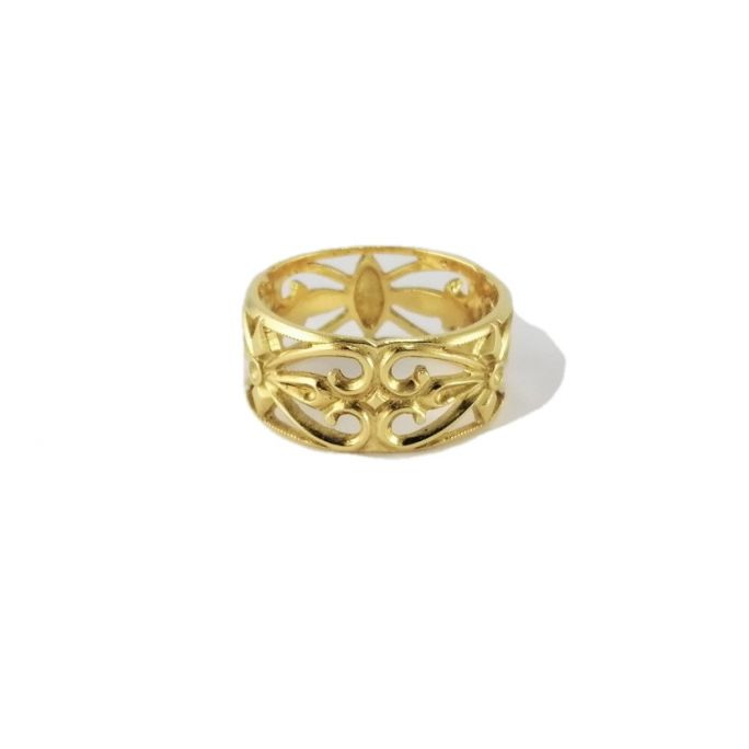 Band ring in yellow gold