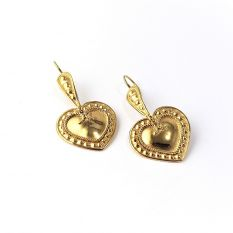 Etruscan heart earrings