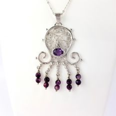 Pendant with Amethysts