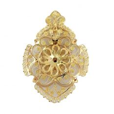 Nature pendant (gold, diamonds and rubies)