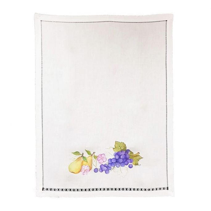 Tea towel Grapes and pears