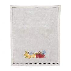 Peaches tea towel