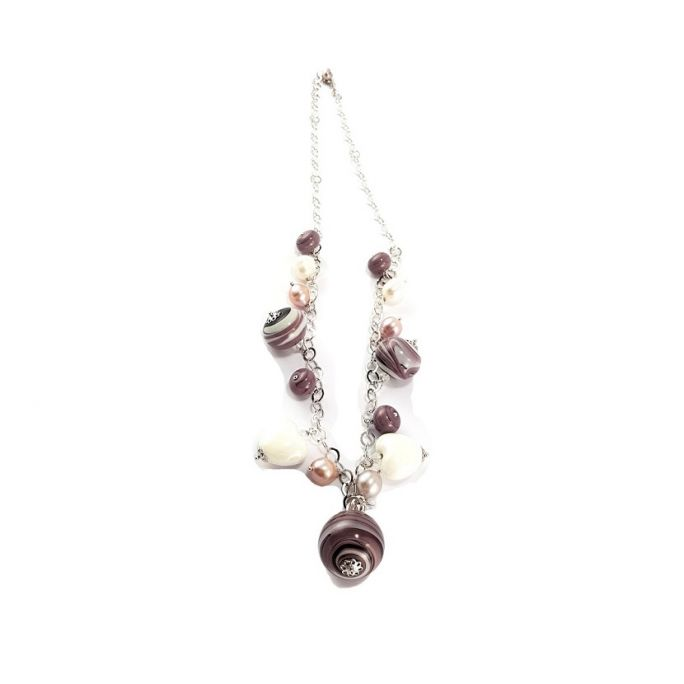 Glass globes necklace