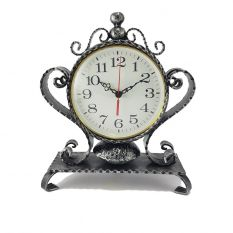 Iron time table clock