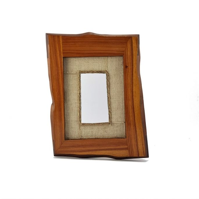 """Frame with """"Wood"""" mirror"""