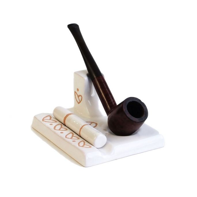 Ceramic pipe rest