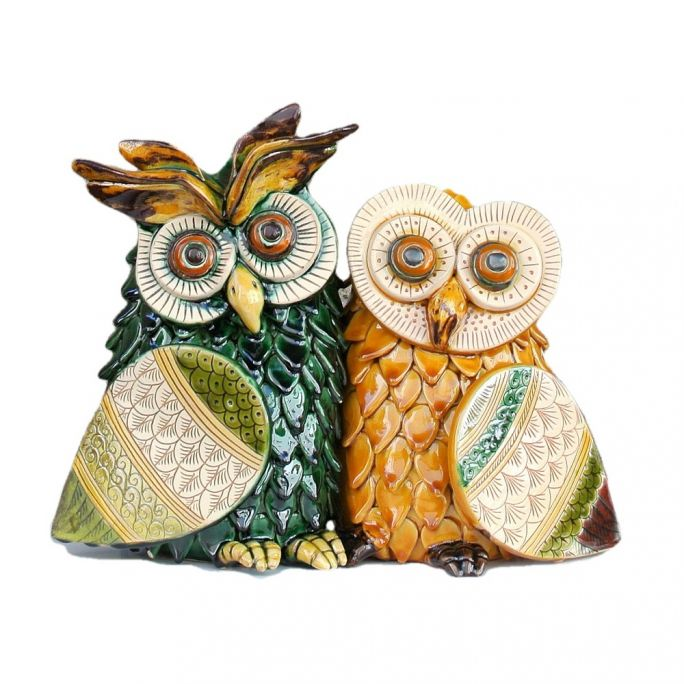 Large Owls Couple