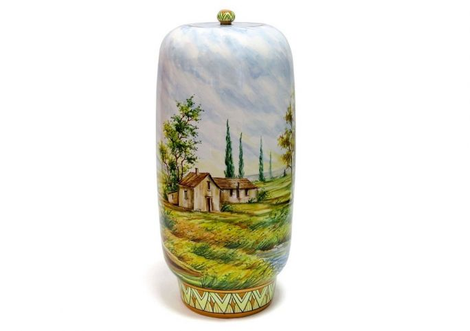 Vase with traditional landscape