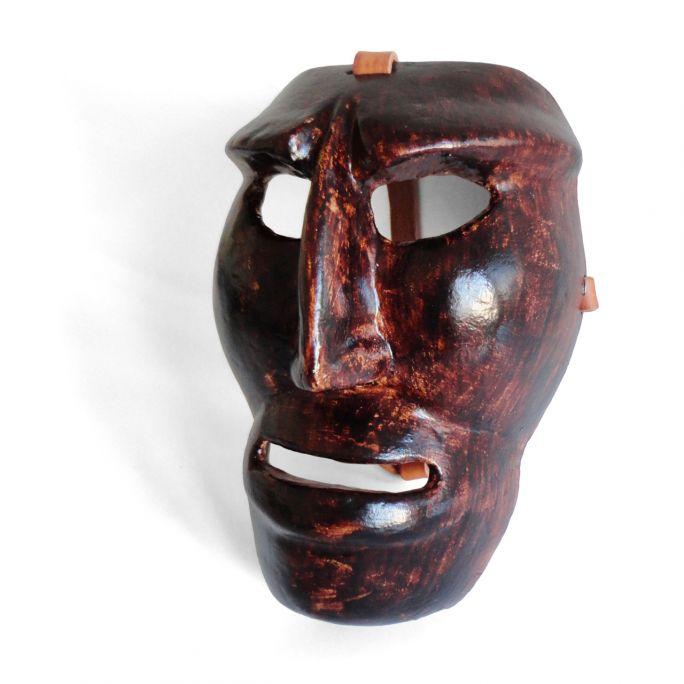 Wooden Mamuthones mask 06