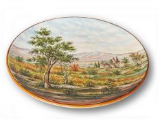 Wall plate with landscape